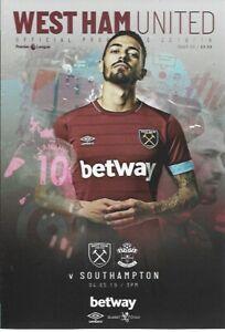 West-Ham-United-v-Southampton-4th-May-2019-Match-Programme-2018-19
