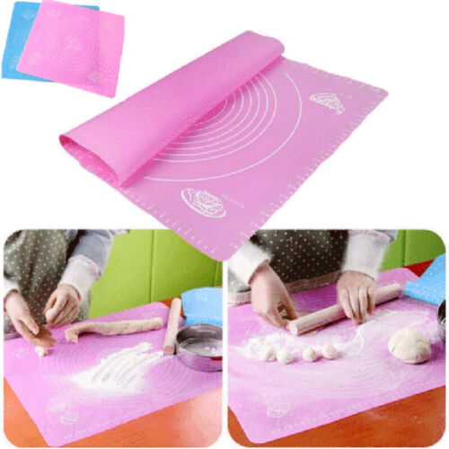 Large Non Stick Baking Fondant Pastry Silicone Rolling Dough Mat  For Small Cake