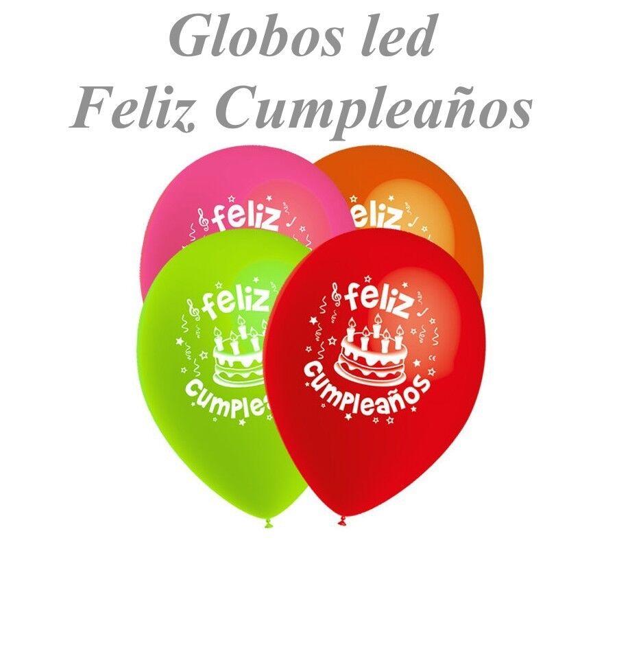 5 Globos LED Colores Feliz cumpleaños decoración fiestas aniversarios as little as possible