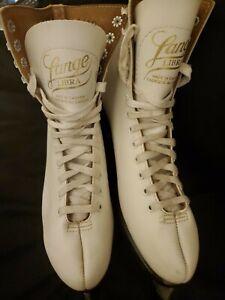 Lange-Libra-White-Figure-Skates-Women-039-s-Size-8-Ice-Skates-Made-in-CANADA