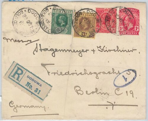 51842 Gold Coast POSTAL HISTORY STATIONERY COVER from DODOMA to GERMANY
