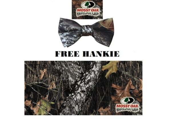 BOLD MOSSY OAK Hunters Camouflage Tuxedo Cummerbund Bow Tie Set NEW CBMC3