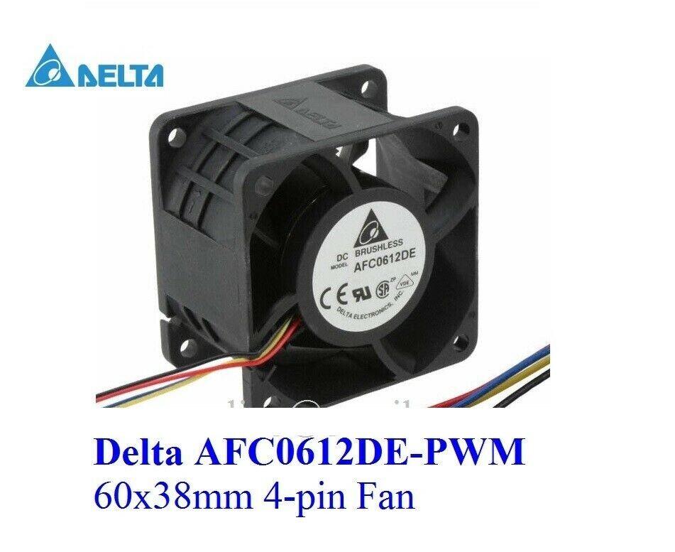 **New** 1x Delta 60mm x 38mm 4-pin PWM Fan 12V 60x38mm AFC0612DE 66CFM Hi-speed