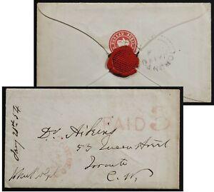 John Rolph autograph signature Quebec 1854 stampless BUREAU AGRIE govt envelope