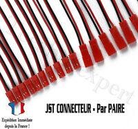 Paire Connecteur JST Mâle + Femelle - RC, lipo, modélisme, Arduino, Pi, DIY