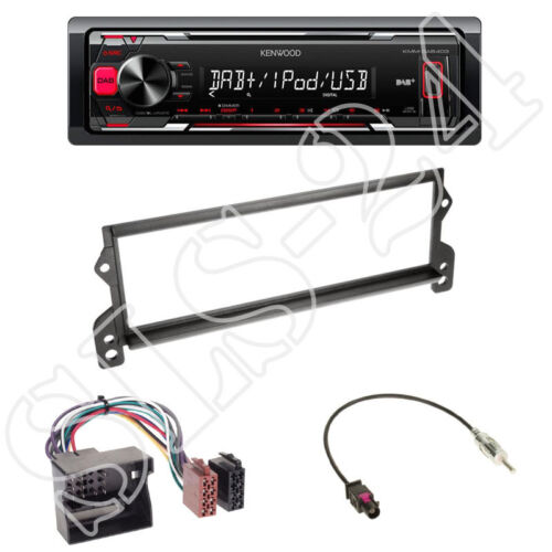 Kenwood kmm-dab403 adaptador ISO set Mini r50 r52 r53 1-din diafragma negro