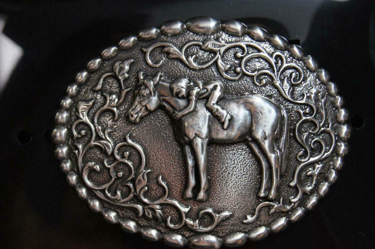 Nocona Blazin Roxx Girl Loving her Horse Belt Buckle 37672