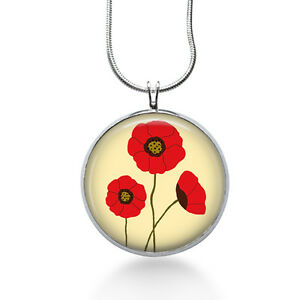 Red-Poppies-Necklace-Flowers-Jewelry-Handmade-Art-Pendant