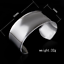 925-Silver-Plated-Men-Women-Bangle-Open-Cuff-Solid-Bracelet-Fashion-Jewelry-Gift thumbnail 18