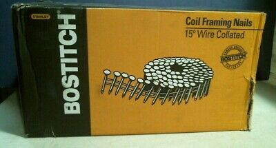Bostitch C12P120D 3-1//4/'/' X .120 15-Degree Smooth Shank Framing Nail 2,700-Pack