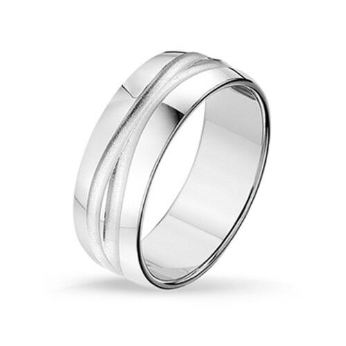 Inkl Herren Ring   -925er Sterling Silber Männer Ring GRAVUR-819