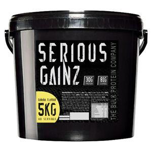 Serious Gainz Weight Gainer 5kg Muscle Mass Gain Protein Powder Shake - Banana