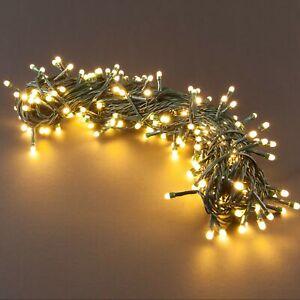 SnowEra-Weihnachtslichterkette-200-LED-Lichterkette-Aussen-Innen-Garten-Amber