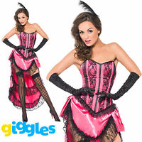 Can Can Diva Moulin Rouge Burlesque Costume Womens Ladies Fancy Dress Outfit