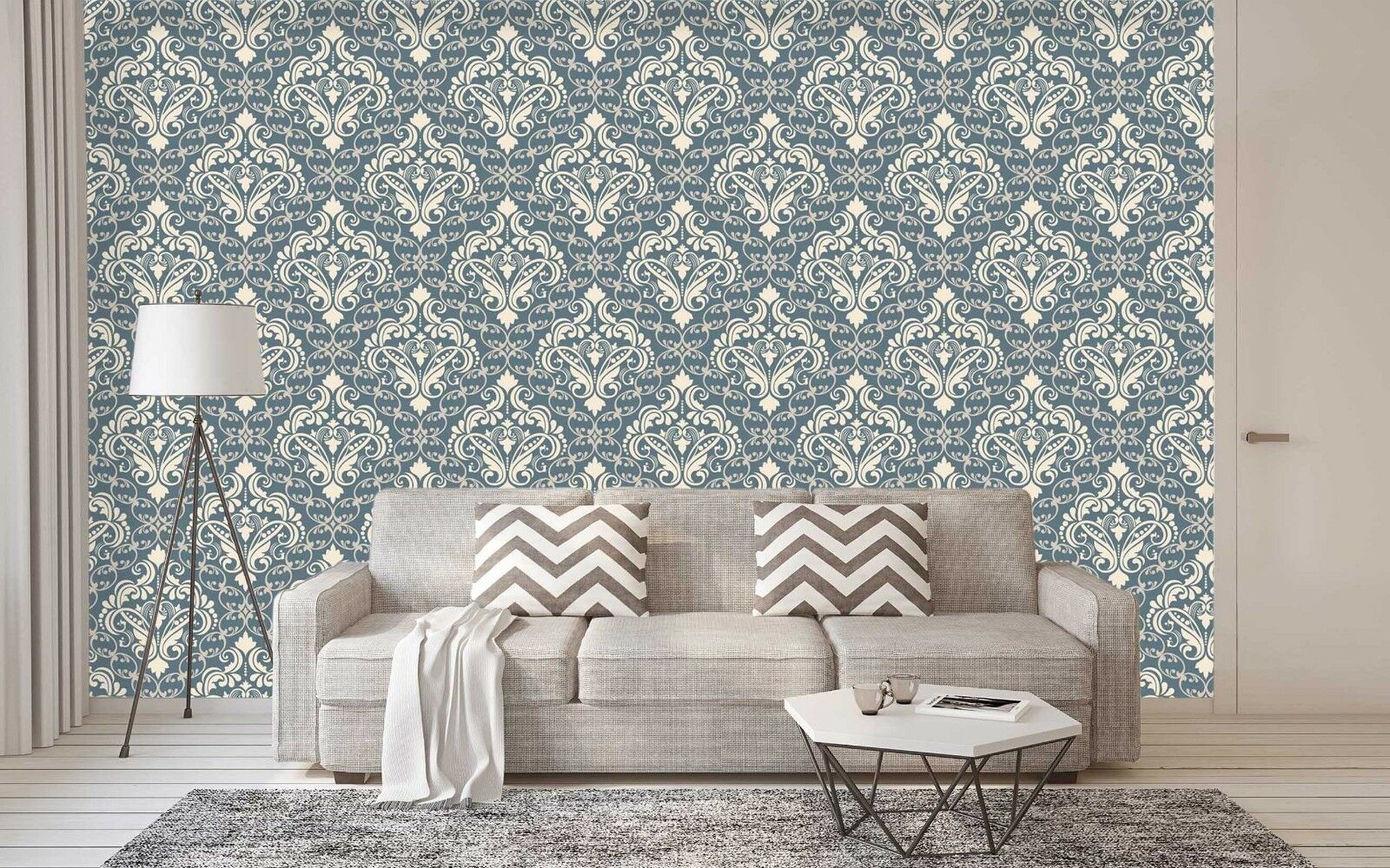 3D bluee Floral 726 Wallpaper Mural Paper Wall Print Indoor Murals CA Summer