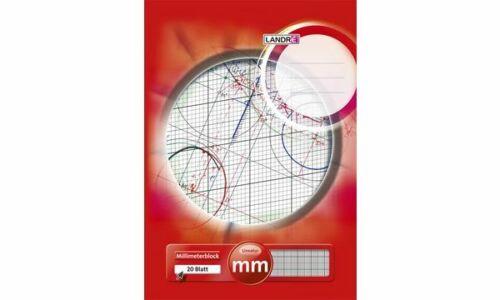 LANDRÉ Millimeterpapier-Block DIN A3 80 g//qm 20 Blatt