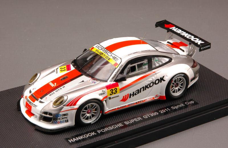Porsche 911   hankook 33 super gt300 2011 kageyama fujii 1 43 modell 44597 ebbro