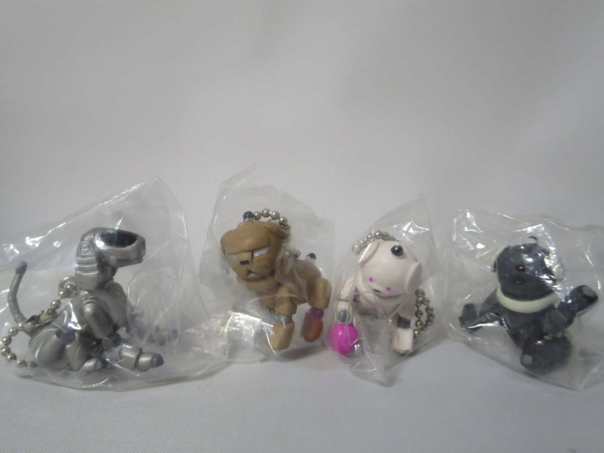 SONY AIBO Mini Figure with Ball Chain Set of 4 types Nuovo