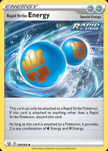 4x Rapid Strike Energy - 140/163 - Uncommon NM-Mint Pokemon SWSH5 - Battle Style
