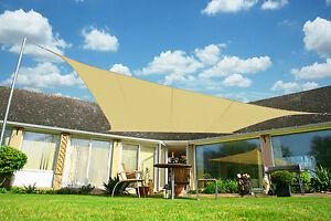Image is loading Kookaburra-Sand-Shade-Sail-Sun-Canopy-Screen-Garden- & Kookaburra Sand Shade Sail Sun Canopy Screen Garden Patio Awning ...