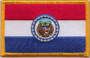 Missouri US State Flag Embroidered Patch T8
