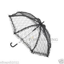 "New ""Handmade"" Black Lace Bridal Parasol Wedding Party Shower Umbrella 4 Decor"