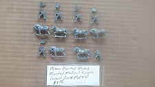 15mm Assorted Makes  Mounted Medieval Knights  Primed
