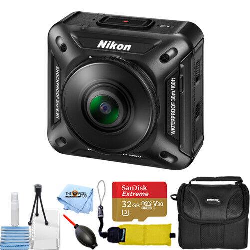 Nikon KeyMission 360 4K Action Camera (Black) #26513 ACTION BUNDLE action bundle camera keymission nikon