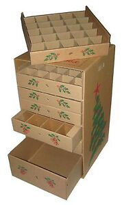Image Is Loading 7 Drawer Christmas Ornament Storage Box Corrugated Cardboard