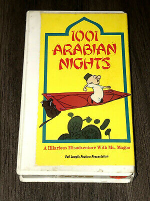 1001 Aribian Nights A Hilarious Misadventure With Mr Magoo Vhs Used 9781555114480 Ebay