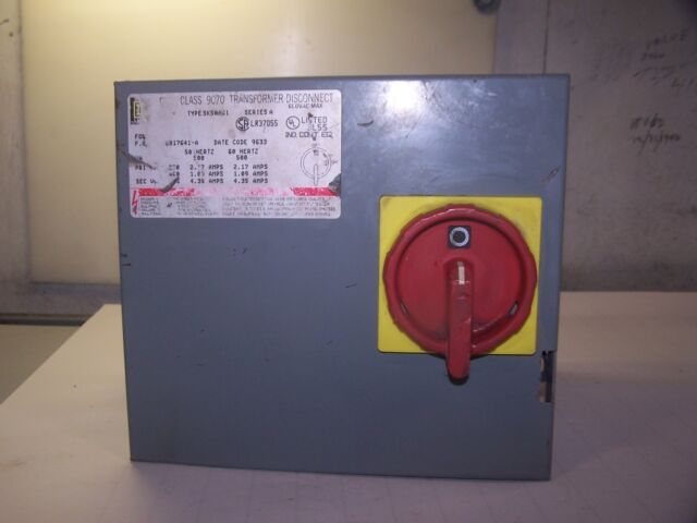 Square D SK1000G1 Class9070 Series A Transformer Disconnect 230//460V 600Vac