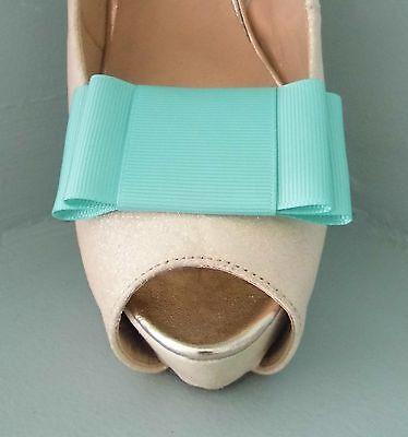 2 Deep Menta Verde Grande Doble Arco Clips Para Zapatos-otros colores a petición
