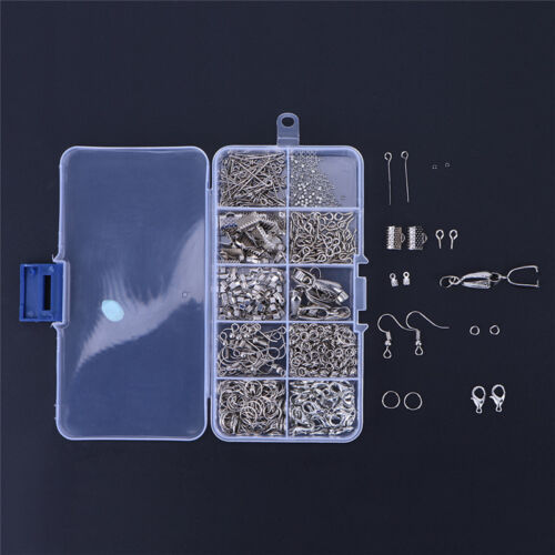 1 Set Large Jewellery Making Kit Pliers Silver Beads Wire Starters Tool HomDLUK