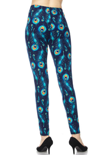 ONE SIZE TC//Oj015 Leggings Buttery Soft Always Brushed Feathers