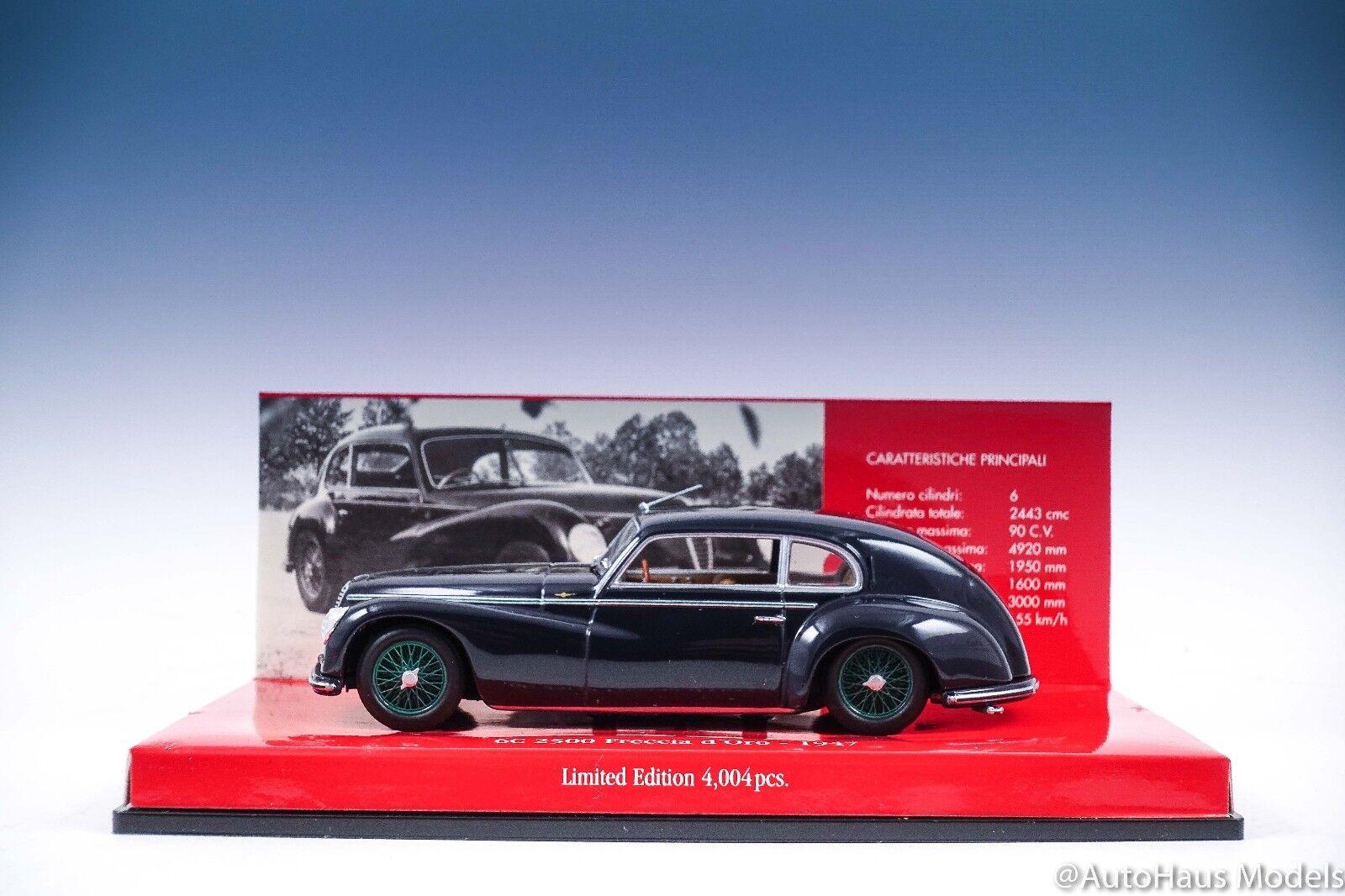 mejor servicio Minichamps 1 43 403 120483 Alfa Romeo 6C 6C 6C 2500 Freccia D 'oro 1947-Azul Oscuro  Con 100% de calidad y servicio de% 100.