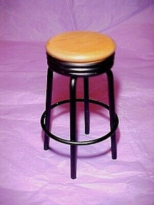 Dollhouse Red 1950s Vintage Style Diner Counter Stool 1:12 Doll House Miniatures