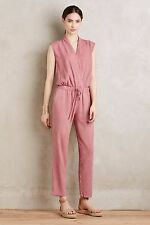 NWoT Anthropologie Cloth & Stone Amara Mignon in Pink Cross Front Jumpsuit S