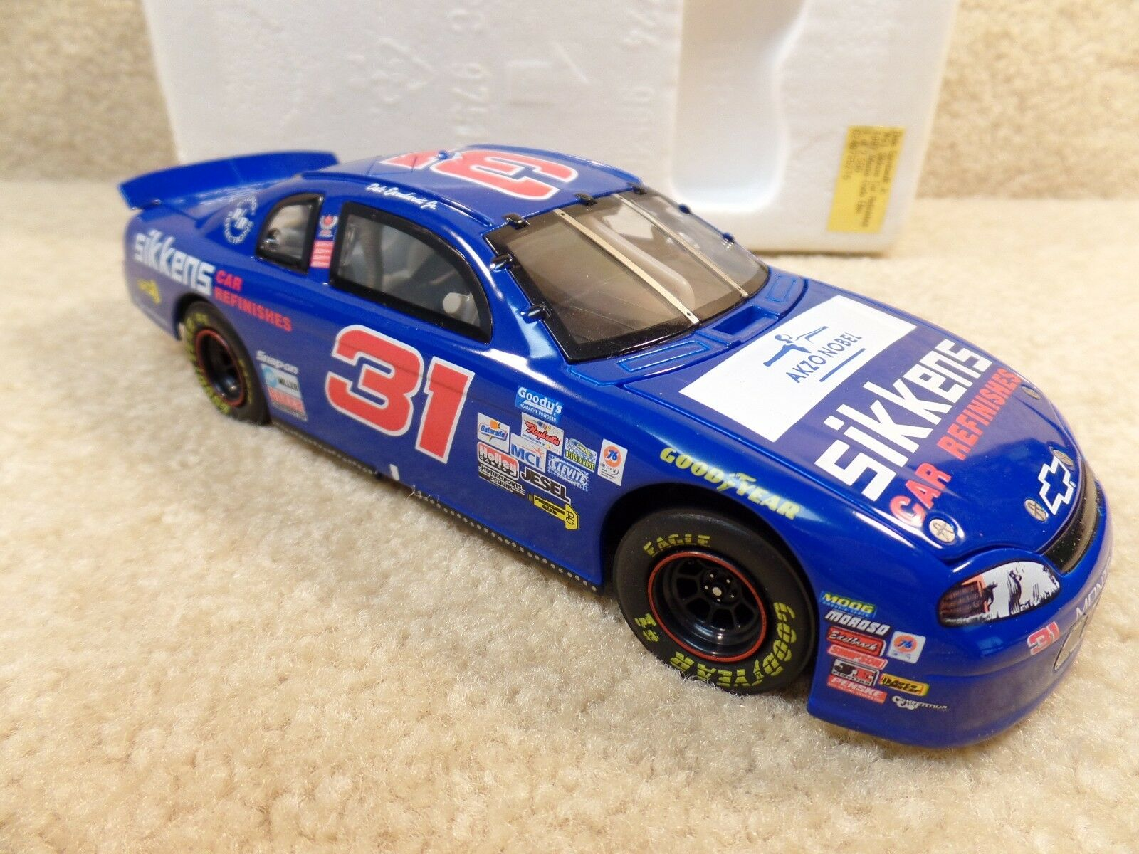 New 1998 Action 1 24 Diecast NASCAR Dale Earnhardt Jr Sikkens Elite 1997 Monte
