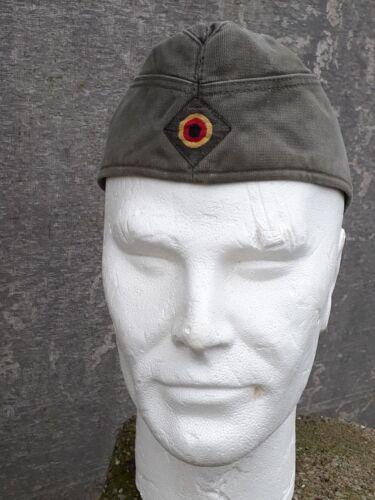 Genuine Surplus German Side Cap Fatigue Chip Packet Hat Olive Vintage 1980/'s G2