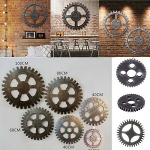 Wonderful Image Is Loading 1PC Vintage Wooden Gear Wall Art Industrial Antique