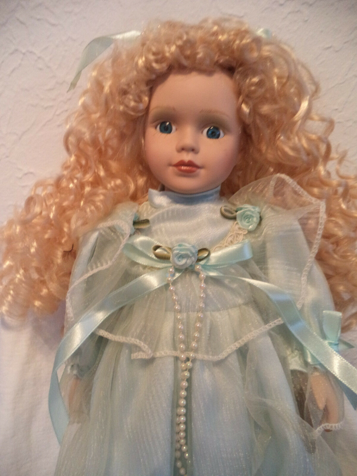 Vintage Porcelain Doll Angela Gift of Time Collection