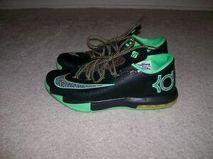f4eb887d18a41 SZ 11 Nike KD VI 6 Night Vision Brazil Black Green 599424 093 VI X ...
