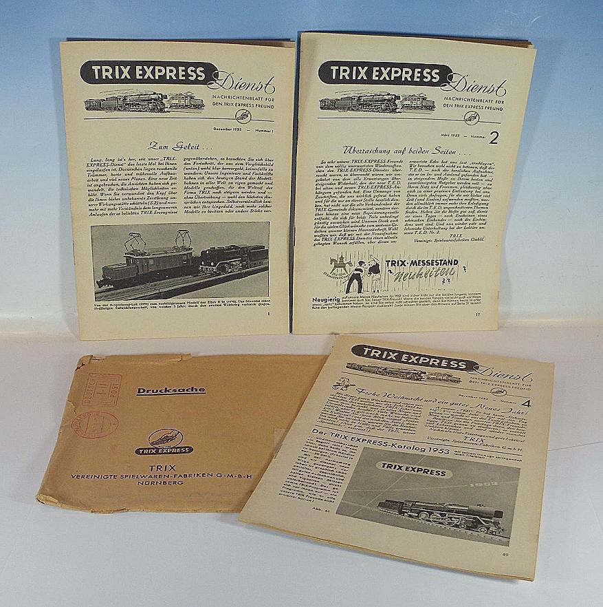 Trix Express h0 00 te servicio 1 52, 4 52, 2 53 & envío de materiales  5514