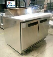 New 48 Commercial Sandwich Salad Prep Table Refrigerator 12 Bin Station Nsf Etl