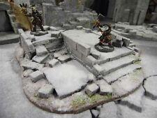 Medio arruinada Temple-frostgrave-Fantasía escenografía-WARHAMMER