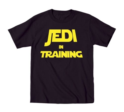 Jedi In Training Cute Funny Star Wars Baby Outfit Humor Black Toddler T-Shirt