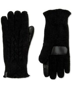 Isotoner-smarTouch-Chenille-Knit-Tech-Gloves-Black-NWT