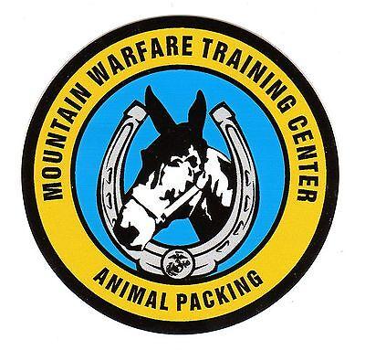 Window Bumper Sticker Military Marine Mountain Warfare Communications NEW Decal