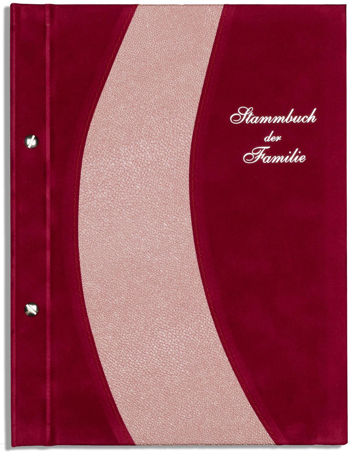 Din A4 Stammbuch der Familie Ousi, Granatapfelsamt, Rosa Leder, Stammbücher | Qualifizierte Herstellung  | Haltbar  | Outlet