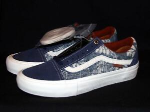 f2156cd405681c VANS Pro UltraCush HD Shibori Indigo Batiks Suede Canvas Shoes 2 ...
